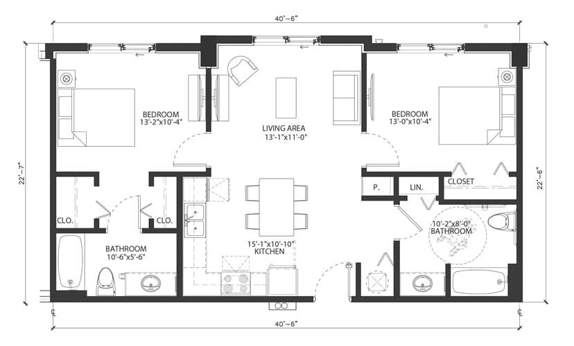 West Palm Beach Senior Apartments GEORGIAN-FLOORPLAN-ASTER