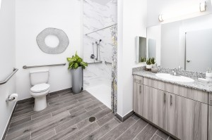 1 Bedroom Affordable Senior Apartments in West Palm Beach, FL - Bathroom