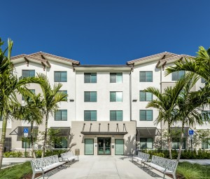 One Bedroom Affordable Senior Apartments in West Palm Beach, Florida - Exterior